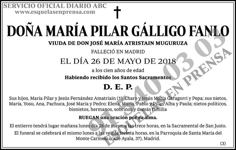 María Pilar Gálligo Fanlo